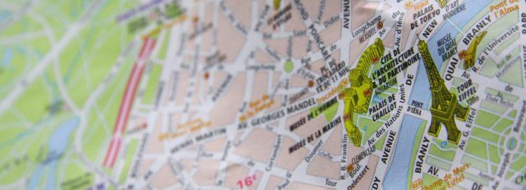 cartina parigi