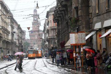 Milano sotto la pioggia