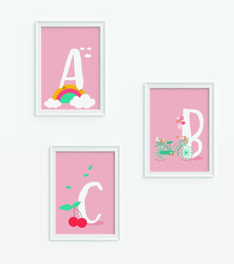 Le illustrazioni di Le Petit Rabbit: perfette per decorare la zona studio.