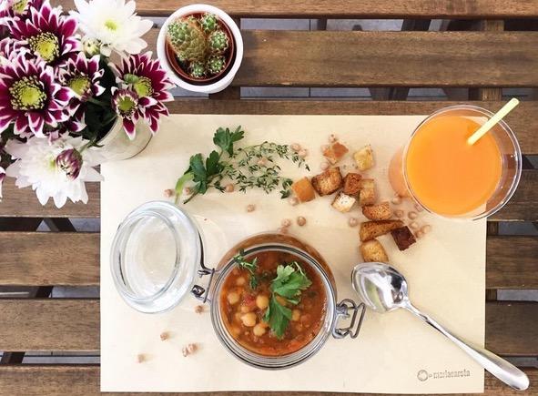 Mariacarota zuppa con crostini