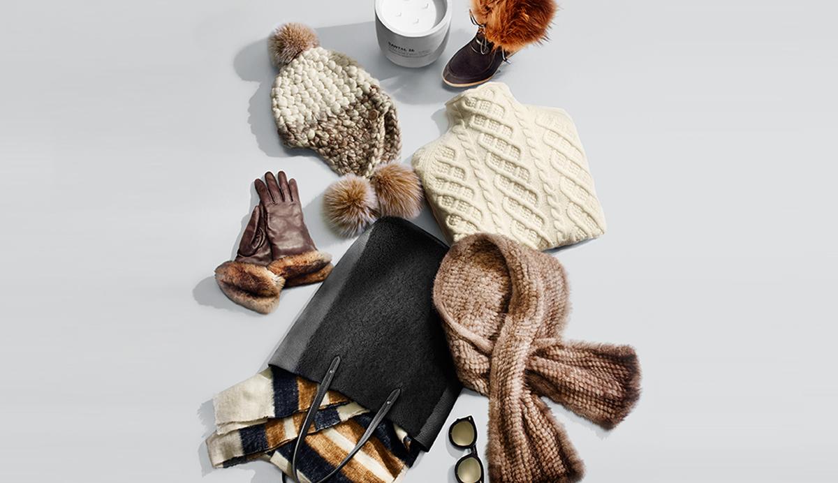Maglioni, cappello, sciarpa winter essentials