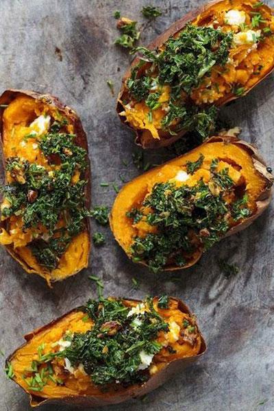 Cavolfiore e baked potatoes